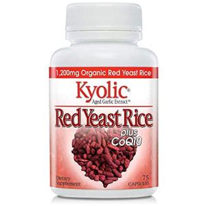 Kyolic Formula 114 Red Rice Yeast & Coq10, 75 Capsules