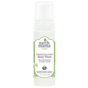 Baby Wash for Sensitive Skin by Earth Mama Calming Lavendar 5.3 oz