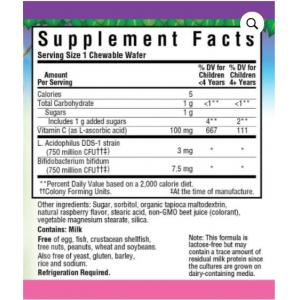 Bluebonnet Nutrition Super Earth Rainforest Animalz Probiotic supplement facts