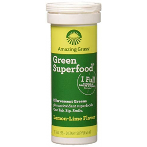 AMAZING GRASS Lemon Lime Green Superfood Drink Tabs