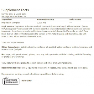 CuraMed Acute Pain Relief supplement facts