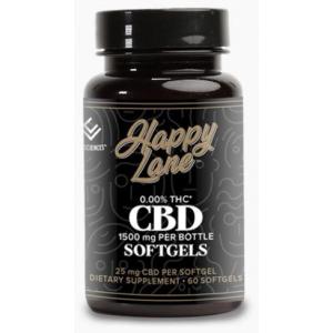 HAPPY LANE CBD SOFTGEL CAPSULE  25 mg 60 ct