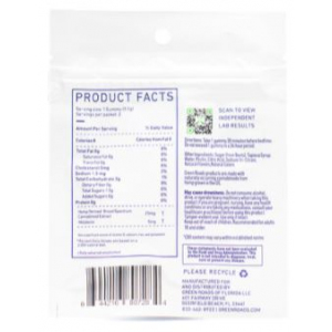 Sleepy Zs CBD Gummies 2 ct 50 mg supplement facts
