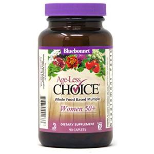 Bluebonnet Nutrition Age-Less Choice Whole Food-Based Multiple for Women 50+ Caplets