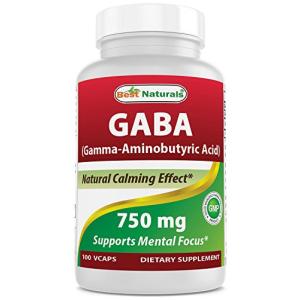 Best Naturals Gaba 750 mg 100 Veggie Caps