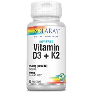Solaray Vitamin D3 + K2 60 CT