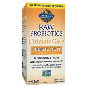 Garden of Life Raw Probiotics Ultimate Care 100 Billion CFU 30 Capsules