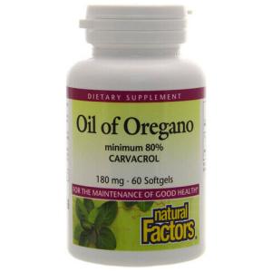 Natural Factors Oil of Oregano 180 mg 60 Softgels