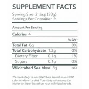 Ocean's Promise Premium Sea Moss Gel supplement facts