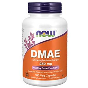 Now DMAE (Dimethylaminoethanol) 250 mg 100 Veg Capsules