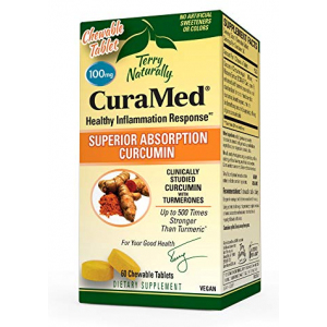 Terry Naturally CuraMed 100mg - 60 chewable tablets