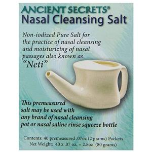 Ancient Secrets Nasal Cleaning Salt 40 .07 oz packs