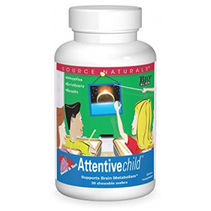 Source Naturals Attentive Child Chewable Wafers for Brain Metabolism Support - 30 Fruit Wafers