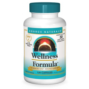 Source Naturals Wellness Formula Bio-Aligned Vitamins & Herbal Defense for Immune System Support - 120 Capsules