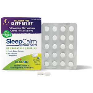 Boiron Sleepcalm Melatonin Free Homeopathic Sleep Aid for Adults 60 Tablets