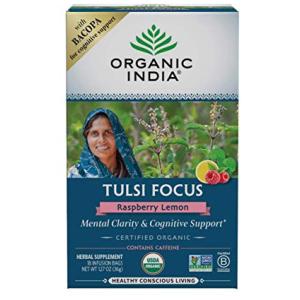 Organic India Tulsi Focus Raspberry Lemon Tea
