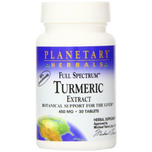 Planetary Herbals Full Spectrum Turmeric Extract Tablets