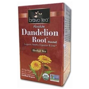 Bravo Tea Organic Dandelion Root Tea 20 ct
