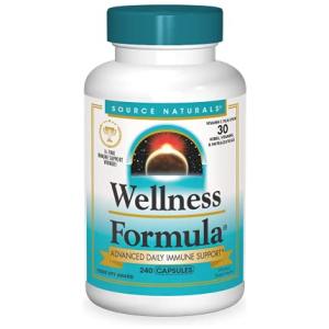Source Naturals Wellness Formula Bio-Aligned Vitamins & Herbal Defense For Immune System Support 240 Capsules