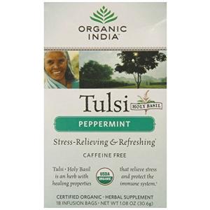 Organic India Tea Tulsi Peppermint