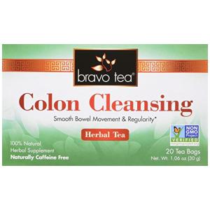 Bravo Tea Colon Cleansing Herbal Tea Caffeine Free 20 ct