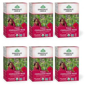 Organic India Tulsi Cinnamon Rose Herbal Tea  ct