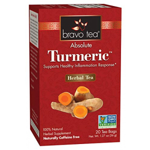 Bravo Tea Turmeric Tea Caffeine Free 20 ct