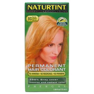 Naturtint 8G Permanent Sandy Golden Blonde Hair color Kit 4.5 oz