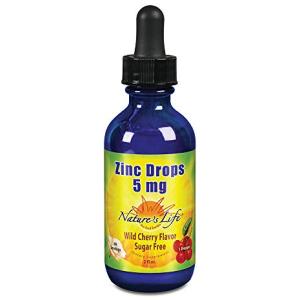 Nature's Life Liquid Zinc Drops 5mg Cherry 2 fl oz
