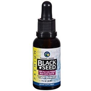 Amazing Herbs Black Seed Oil Cold Pressed Premium 1 fl oz