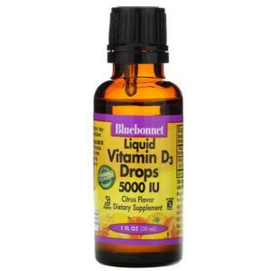 Bluebonnet Liquid Vitamin D3 Drops 5000 IU