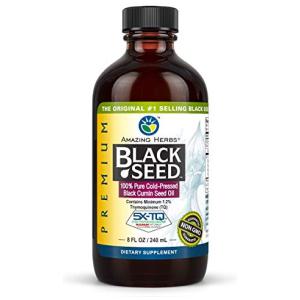 Amazing Herbs Premium Black Seed Oil  8 Fl Oz